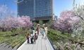 Silně idealizovaná vizualizace dráhy High Line po rekonstrukci
