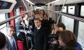První oficiální testovací jízda pro pasažéry tvořící novináři a zástupci města Prahy