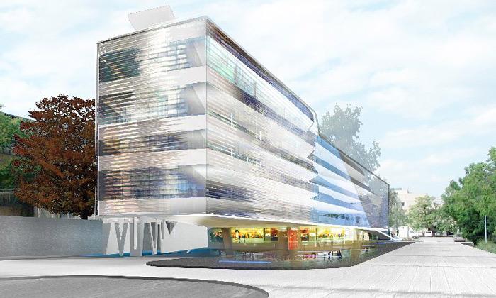 Vídeň staví protáhlé skleněné laboratoře Marxbox