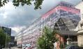Nová vizualizace s výrazně graficky ztvárněnou skleněnou fasádou domu