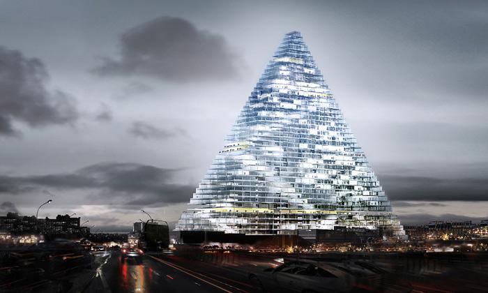 Paříž postaví mrakodrap jako skleněnou pyramidu
