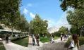 Ke skleněné pyramidě má přiléhat nově zřízený park