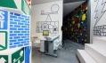 Interiér a výstavní prostory prvního Muzea grafického designu na světě