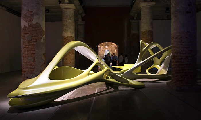Zaha Hadid vytvořila interiérový lotosový květ
