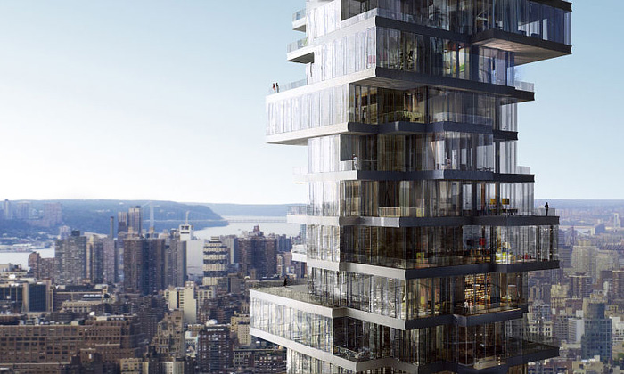 New York ozdobí mrakodrap ze skleněných kostek