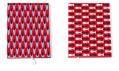 Diář či zápisník ve dvou různých červených provedení
