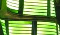 Detail pásu OLED použitého v zelené barvě na vánoční stromek