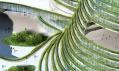 Terasy z prstenců plné zeleně u města Gwanggyo