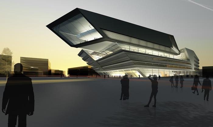 Vzdělávací knihovnu veVídni postaví Zaha Hadid