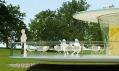 Terasa Klubu Volavka se třemi plánovanými stolky