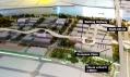 Trojrozměrný model části expozice EXPO 2010 s umístěním českého pavilonu