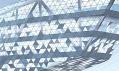 Plánovaná fasáda domu Antverpské přístavní správy od Zahy Hadid