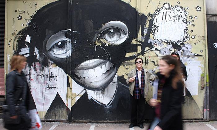 Alexandros Vasmoulakis hvězdou řeckého street art