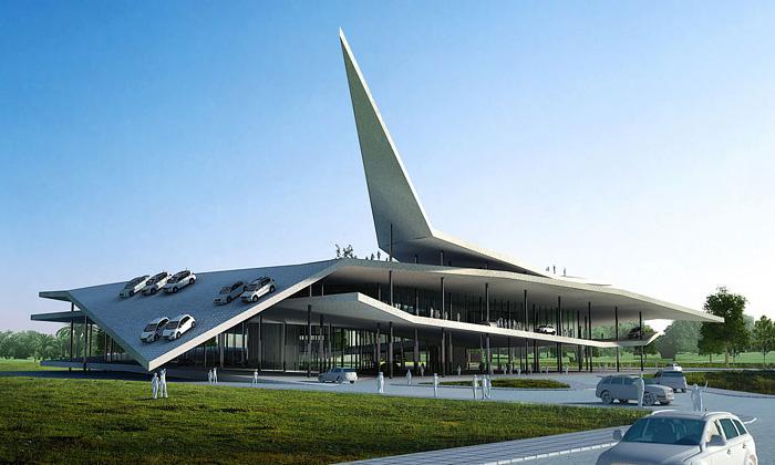 Nanking postaví Muzeum aut jako zatočené origami