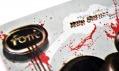 Trojrozměrný nápis a logo časopisu Font na obálce