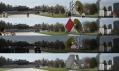 Multifunkční otáčivý pavilon Prada Trasnformer od Rema Koolhaase