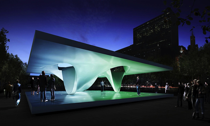 Zaha Hadid aUNStudio postaví vChicagu pavilony