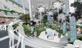 Interiér městského a kulturního centra v Singapuru od Aedas na vizualizaci