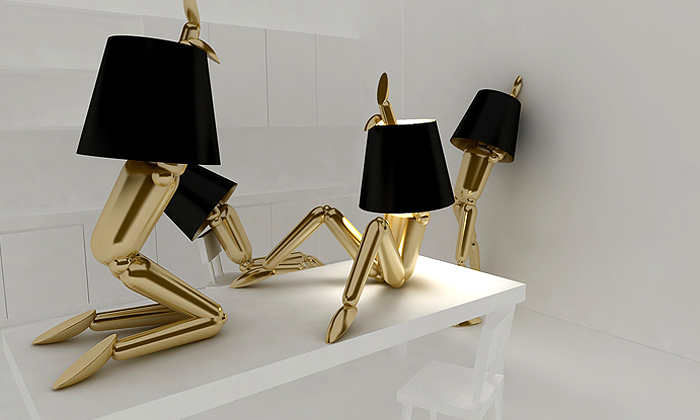 Návržena tvarově proměnlivá lampa zlidského těla