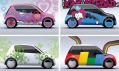 Čtyři mladistvé varianty vozidla Moy