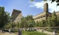 Rozšíření a přeměna londýnské galerie Tate Modern v pohledu z jihu
