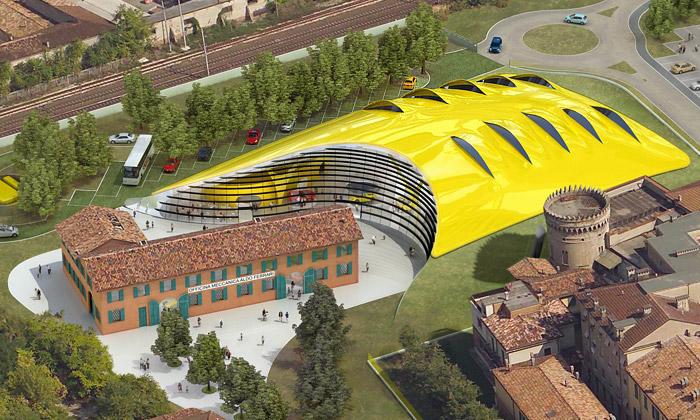 Enzo Ferrari Museum v italské Modeně od Jana Kaplického