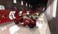 Pohled do expozice muzea Enzo Ferrari umístěné v historické budově
