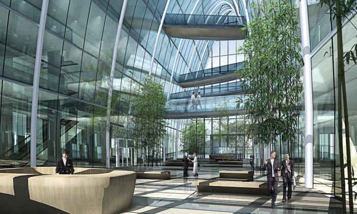 Vítězný návrh věže shidai v čínském městě charbin od as
