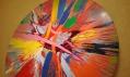 Damien Hirst: Krásné, amore, lapat po dechu, oči navrch hlavy a chvějivá malba