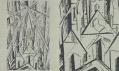 Lyonel Feininger: Plán Bauhaus Weimar, 1919 - Foto: Kelly Kellerhoff