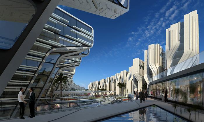 Zaha Hadid představila Kamenné věže vKáhiře