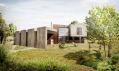 Dům Maura z exteriéru na vizualizaci