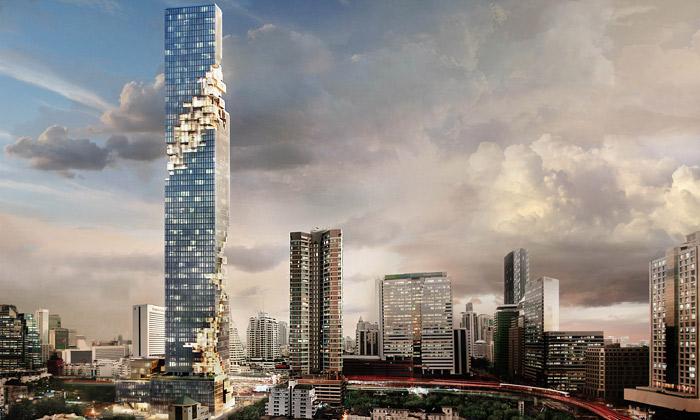 Nejvyšší budovu Bangkoku MahaNakhon postaví OMA