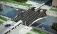 Původní vizualizace mostu Spencer Dock od Future Systems