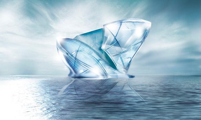 Dubaj plánuje postavit vmoři relaxační ledovec