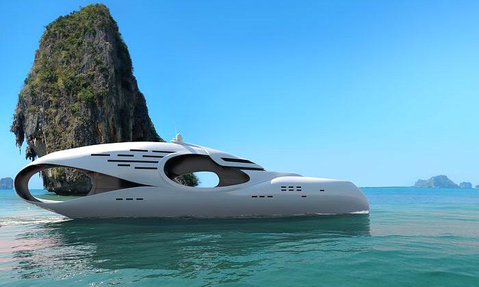 Luxusní jachta Infinitas dostala tvar nekonečnosti