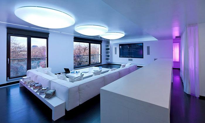 Nově rekonstruovaný interiér dvou propojených bytů v Bukurešti od AA Studio
