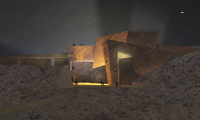 Kanárské ostrovy staví kulturní centrum ze skal