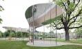Pavilon od SANAA před Serpentine Gallery