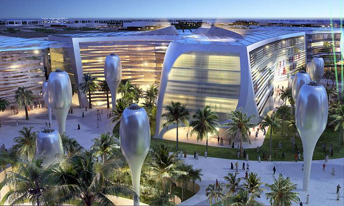 LAVA navrhlo městu Masdar náměstí seslunečníky