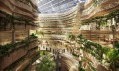 Přilehlý Masdar Hotel a jeho zastřešení od studia LAVA