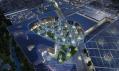 Vítězné řešení náměstí v ekologickém městě Masdar od studia LAVA