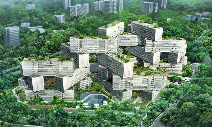 OMA vyskládala nový bytový komplex Interlace