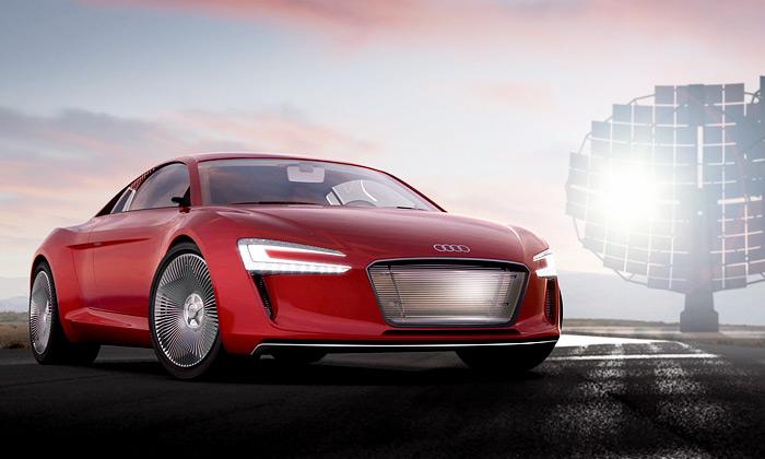 Nový sporťák Audi E-Tron jepoháněn jen elektrikou