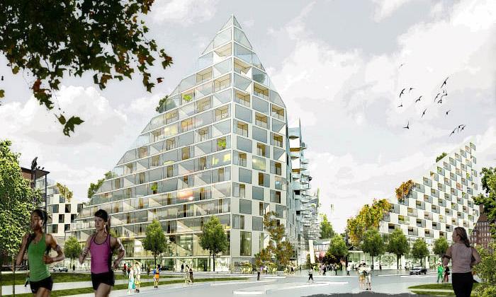 BIG vcentru Malmö postaví vesnici ženských sportů