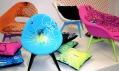Instalace nábytku Fluo na designové přehlídce Designblok 09