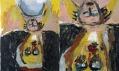Georg Baselitz v Galerii Rudolfinum: Žena z Východu II (celek a detail)