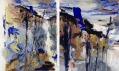 Georg Baselitz v Galerii Rudolfinum: Březová alej – Hráz jezírka (celek a detail)
