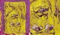 Georg Baselitz v Galerii Rudolfinum: Autoportrét Hlupák (celek a detail)