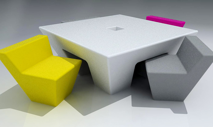 Merrygorando předvedlo nový geometrický nábytek